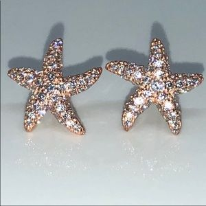 Jewelry - Rose Gold 925 Earrings Gorgeous 5star rating